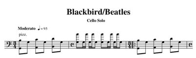 Blackbird cello solo